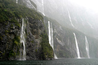 Four Sisters Waterfall, Milford Sound, New Zealand
